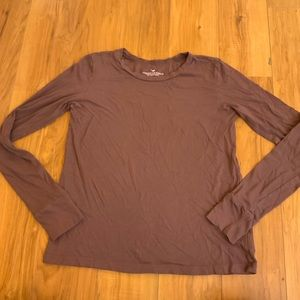 AOE Mauve Long Sleeve T Shirt